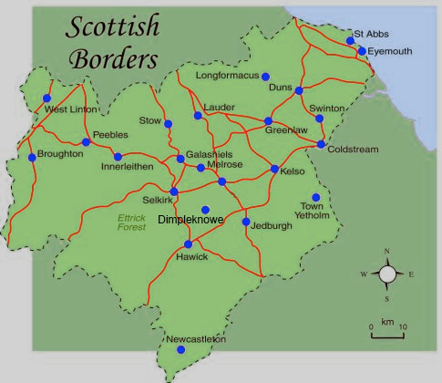Scottish Borders Map